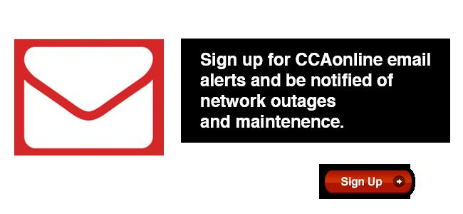 CCAonline Alert System